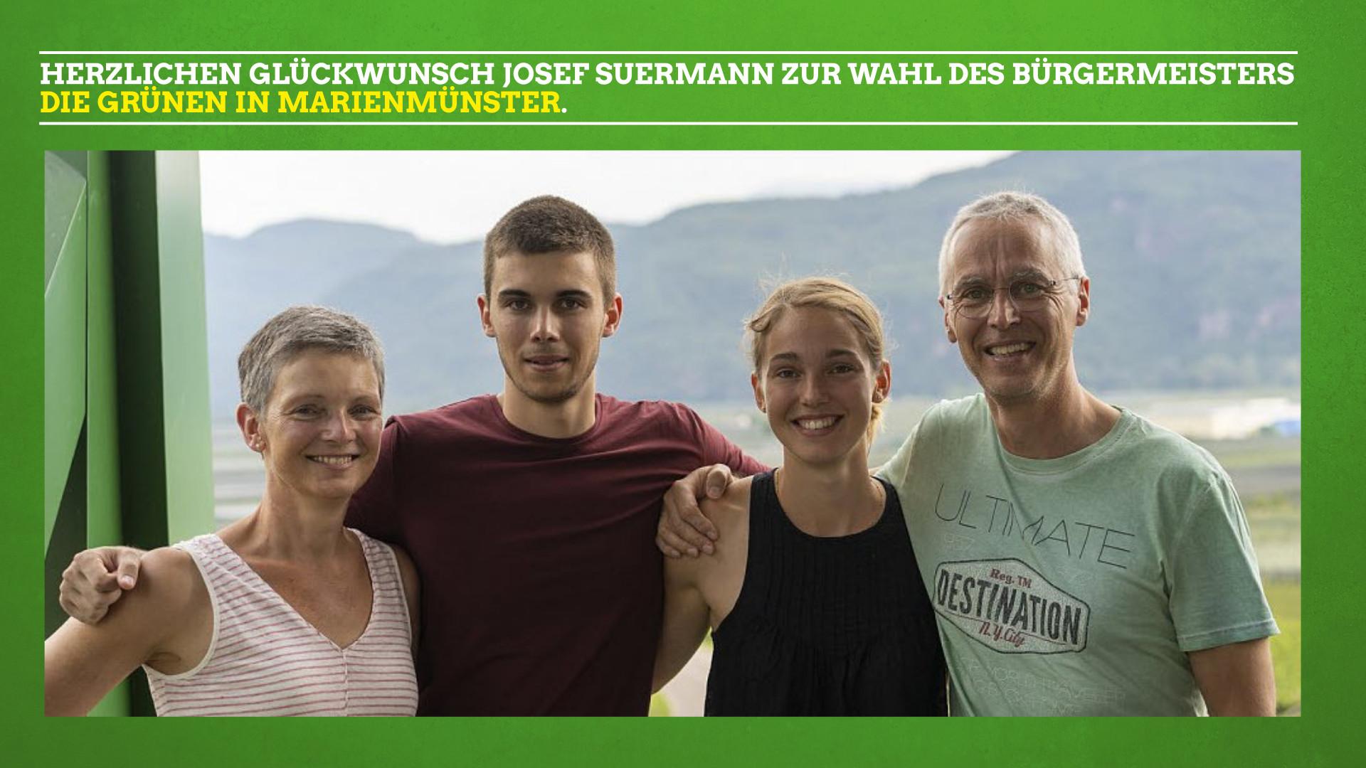 Herzlichen Glückwunsch Josef Suermann zur Wahl des Bürgermeisters