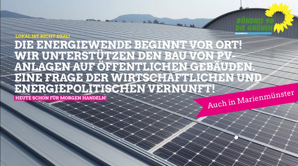 Energiewende vor Ort – wir unterstützen den Bau von PV-Anlagen auf öffentlichen Gebäuden