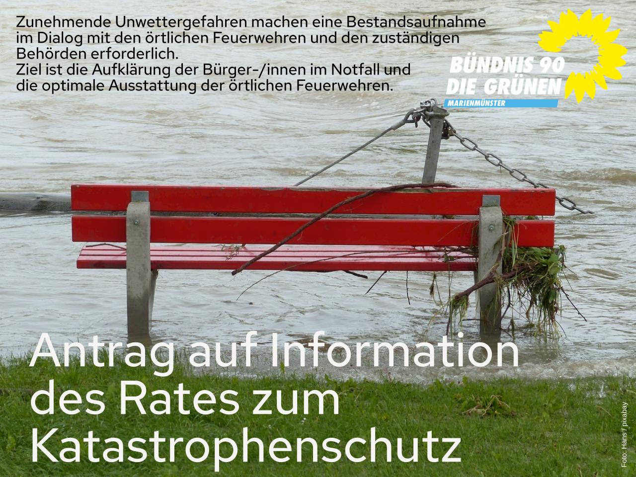 Antrag auf Information des Stadtrats hinsichtlich des Katastrophenschutzes