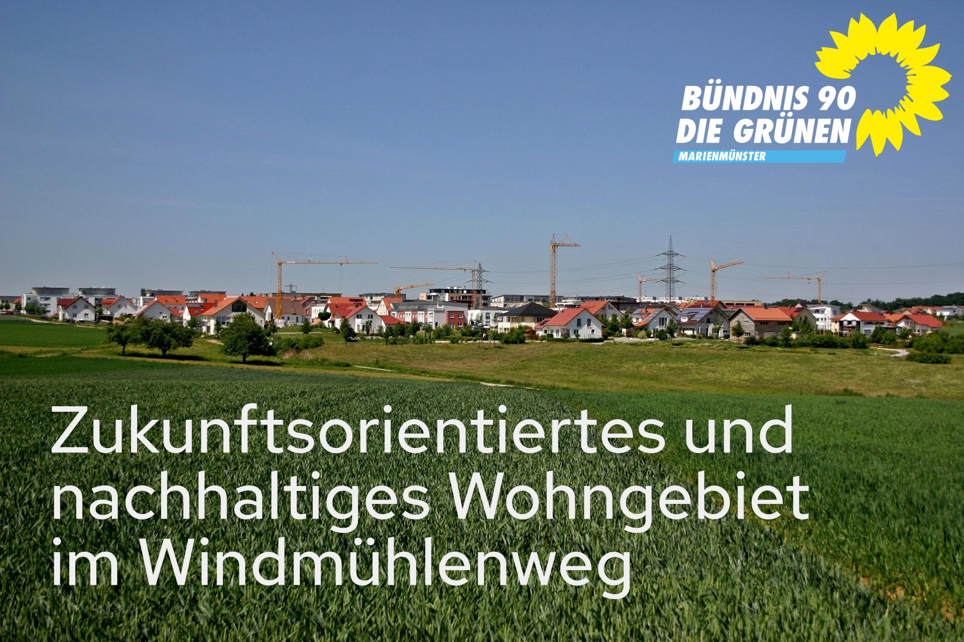 Grüne für zukunftsorientiertes, nachhaltiges Wohngebiet in Marienmünster.